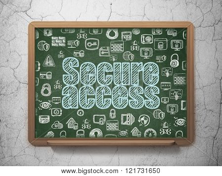 Security concept: Secure Access on School Board background