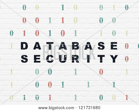 Security concept: Database Security on wall background
