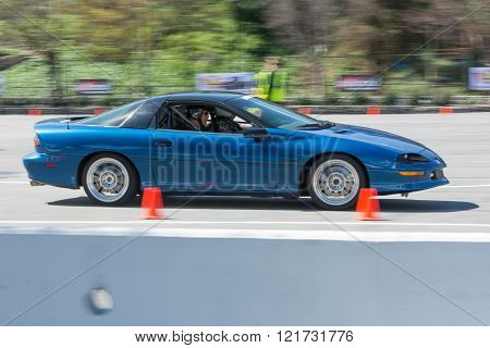 Chevrolet Camaro Z28 in autocross