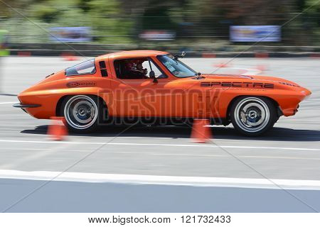 Chevrolet Corvette Stingray in autocross