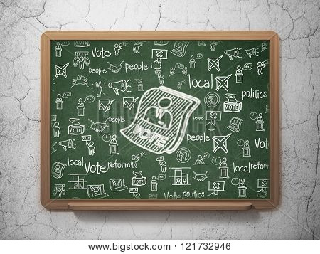 Political concept: Ballot on School Board background