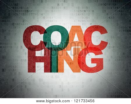 Education concept: Coaching on Digital Paper background