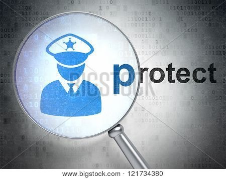 Protection concept: Police and Protect with optical glass
