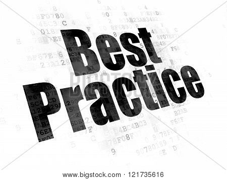 Learning concept: Best Practice on Digital background