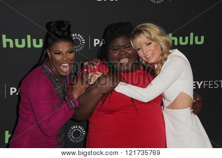 LOS ANGELES - MAR 11:  Ta'Rhonda Jones, Gabourey Sidibe, Kaitlin Doubleday at the PaleyFest Los Angeles - Empire at the Dolby Theater on March 11, 2016 in Los Angeles, CA