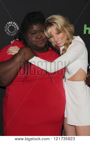 LOS ANGELES - MAR 11:  Gabourey Sidibe, Kaitlin Doubleday at the PaleyFest Los Angeles - Empire at the Dolby Theater on March 11, 2016 in Los Angeles, CA