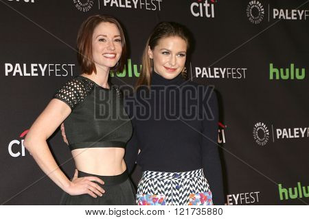 LOS ANGELES - MAR 13:  Chyler Leigh, Melissa Benoist at the PaleyFest Los Angeles - Supergirl at the Dolby Theater on March 13, 2016 in Los Angeles, CA