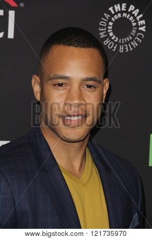 LOS ANGELES - MAR 11:  Trai Byers at the PaleyFest Los Angeles - Empire at the Dolby Theater on March 11, 2016 in Los Angeles, CA
