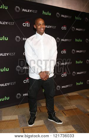 LOS ANGELES - MAR 13:  Mehcad Brooks at the PaleyFest Los Angeles - Supergirl at the Dolby Theater on March 13, 2016 in Los Angeles, CA