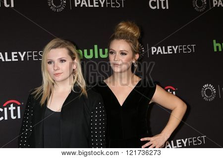 LOS ANGELES - MAR 12:  Abigail Breslin, Billie Lourd at the PaleyFest Los Angeles - Scream Queens at the Dolby Theater on March 12, 2016 in Los Angeles, CA