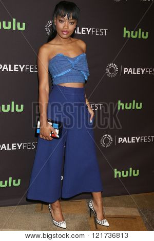 LOS ANGELES - MAR 12:  Keke Palmer at the PaleyFest Los Angeles - Scream Queens at the Dolby Theater on March 12, 2016 in Los Angeles, CA