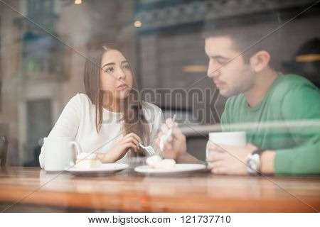 Young Couple Having A Serious Talk