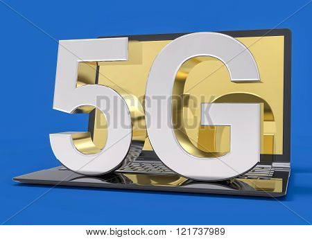 5G Technology Isolated Icon