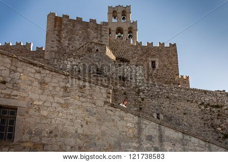 Perspective View Of Fortification Walls  Of The Monastery St John