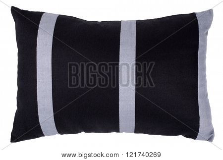 Black pillow with grey stripes