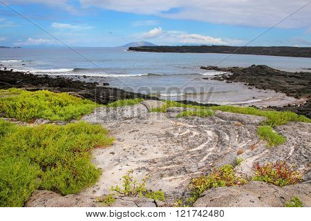 Coast Of Chinese Hat Island, Galapagos National Park, Ecuador.