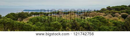 Scenic Panoramic View From Mount Filerimos On Rodos Island