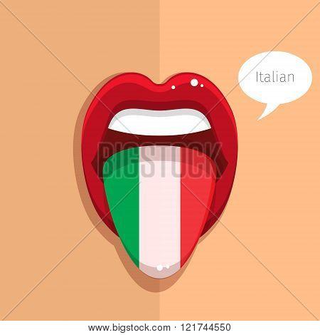 Italian language concept.