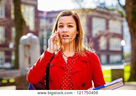 Young Woman And College Student