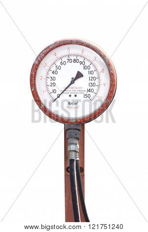 Tire Inflater with pressure machine with isolated background