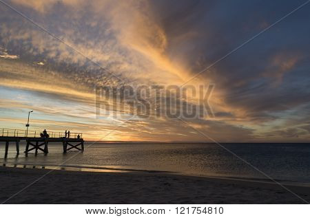 Normanville Jetty At Sunset