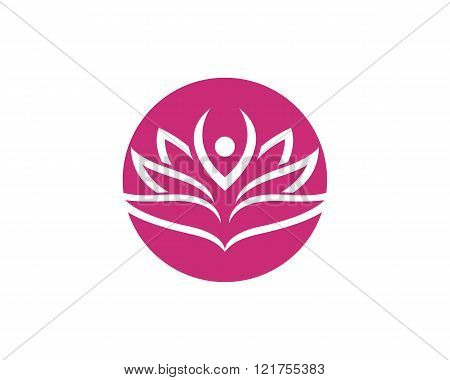 Stylized lotus flower icon