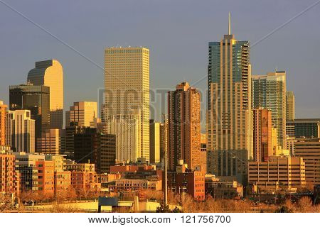 Denver, Usa - December, 23: Skyline Of Denver On December 23, 2012  In Colorado, Usa.  Denver Is The