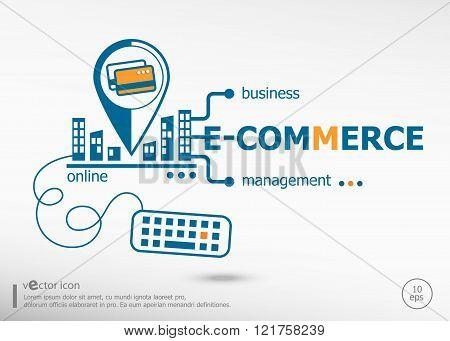 E-commerce And Marketing Concept.