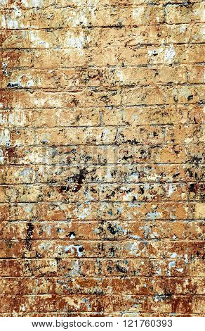 Old red brick wall textures and backgrounds.