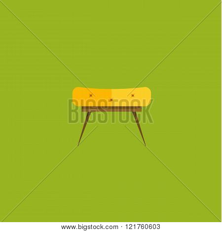 Vector illustration of armchair in flat icons set
