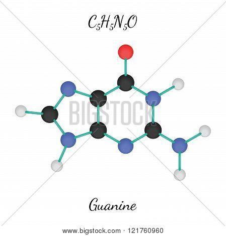 C5H5N5O guanine molecule
