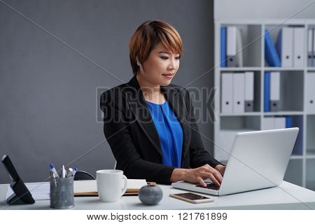 Working in office