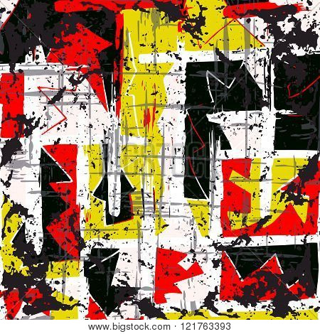 Beautiful Abstract Graffiti Spots Vector Illustration Of Grunge Texture
