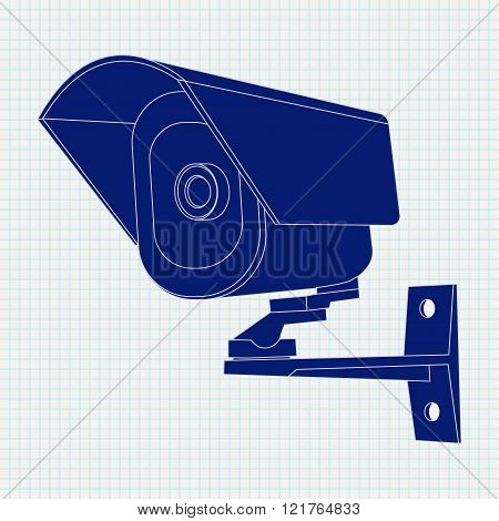 Video surveillance CCTV security camera Icon