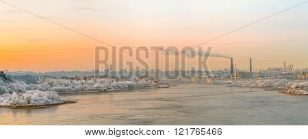 Nemunas River In Sunset