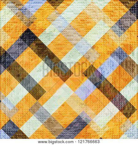Bright Beautiful Polygons Geometric Pattern Grunge Texture