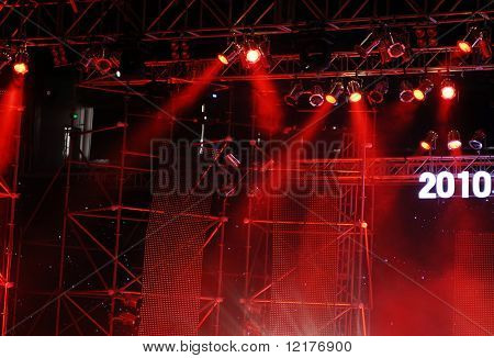 Stage lights poster