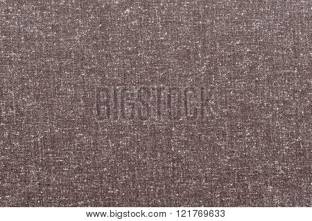 Abstract Speckled Texture Rough Fabric Of Coffee Color