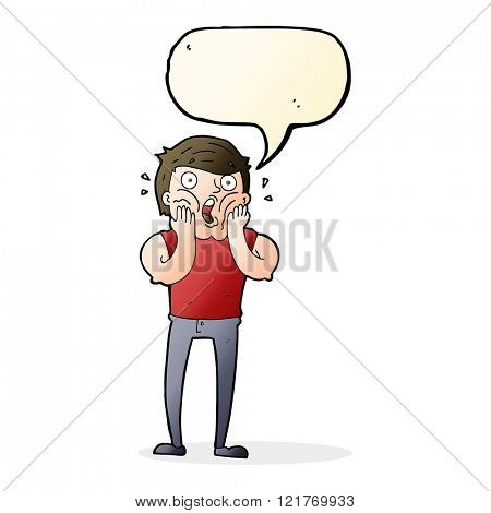 cartoon gasping man with speech bubble