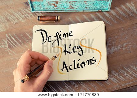 Written Text Define Key Actions