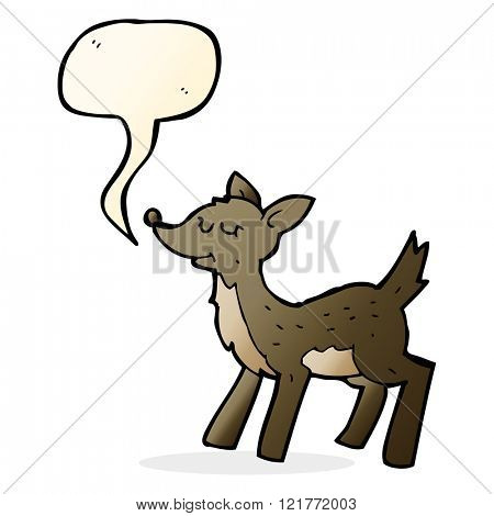 cute cartoon deer with speech bubble
