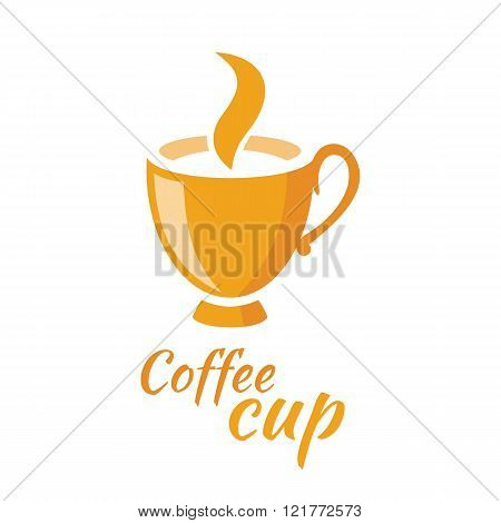 Coffee Cup Logo Design Flat Isolated