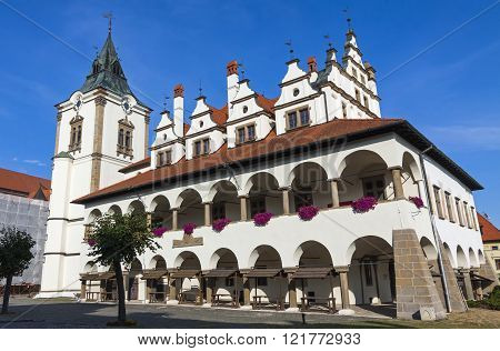 Unique Old Town Hall (levocska Radnica) In Levoca Town, Slovakia