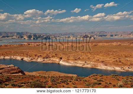 Colorado River Near Page, Arizona And Utah, Usa