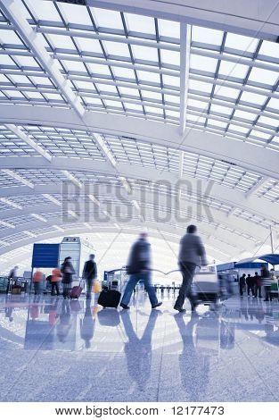 passenger in the Beijing airport.