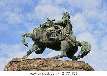 Monument To Bogdan Khmelnitsky In Kiev, Ukraine