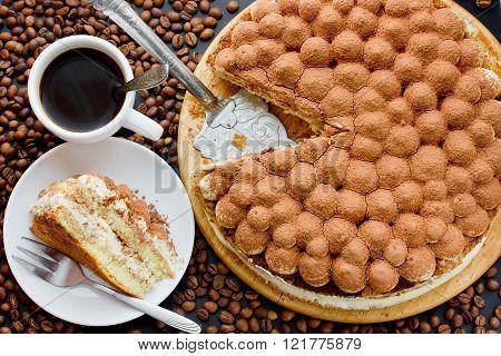 Traditional Italian Dessert Cake Tiramisu