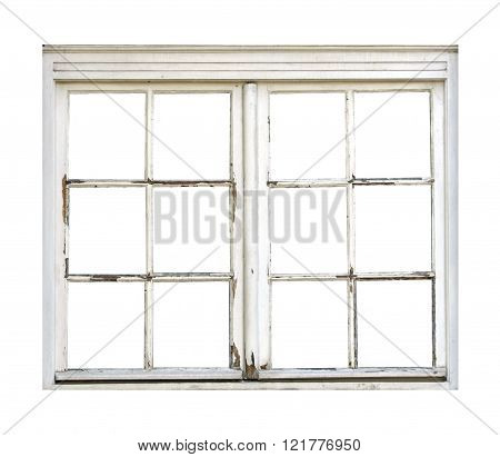 Old vintage wooden window