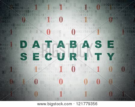 Database concept: Database Security on Digital Paper background