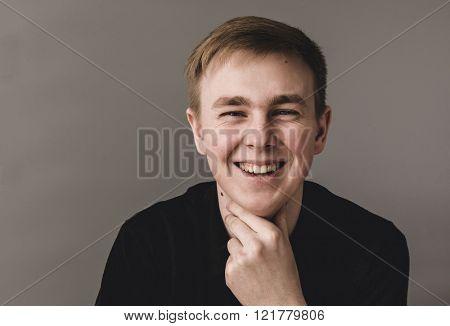 Smiling modern man